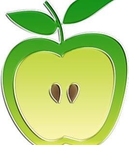 真っ青なリンゴ