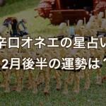 12月後半の占い【辛口オネエ】帝国軍始動!18日射手座新月土星合・20日土星山羊座入り